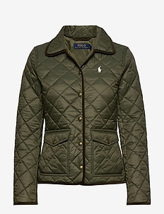 Cropped Barn Jacket - quilted jackets - expedition olive