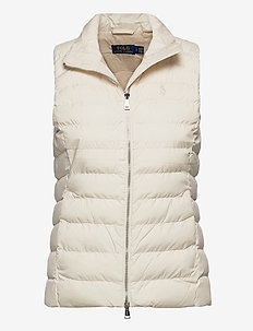 Packable Vest - vadderade västar - guide cream