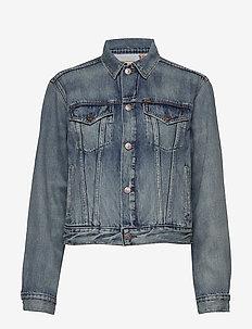 Polo Bear Trucker Jacket - vestes en jean - medium indigo