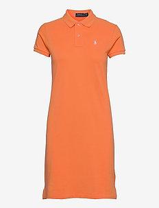 Cotton Polo Dress - hverdagskjoler - key west orange/c