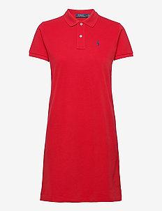 Cotton Polo Dress - hverdagskjoler - rl 2000 red/c7998
