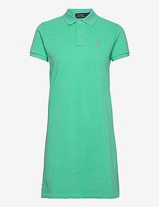 Cotton Polo Dress - hverdagskjoler - sunset green/c312