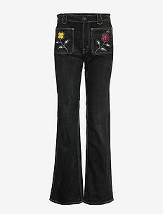 ESMA WASH-DNM - flared jeans - black