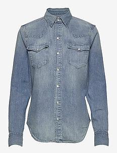 Denim Shirt - koszule z długimi rękawami - light indigo