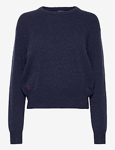 Wool-Blend Crewneck Sweater - gensere - boathouse navy he