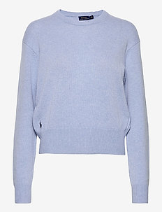 Wool-Blend Crewneck Sweater - gensere - lt blue heather