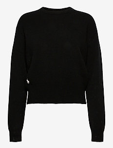 Wool-Blend Crewneck Sweater - neulepuserot - polo black
