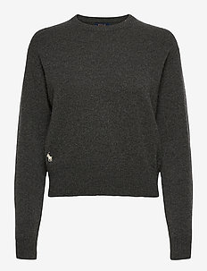 Wool-Blend Crewneck Sweater - jumpers - stadium grey heat