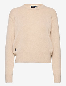 Wool-Blend Crewneck Sweater - gensere - tallow cream heat