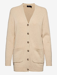 Wool-Blend Cardigan - cardigans - tallow cream heat