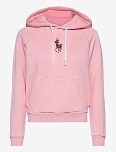 Pony Fleece Hoodie - hoodies - resort pink