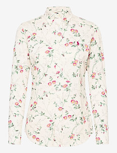 PRINTED KNIT OXFORD-LSL-KNT - long-sleeved shirts - 725 spring daisy