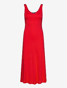 Jersey Sleeveless Dress - everyday dresses - african red