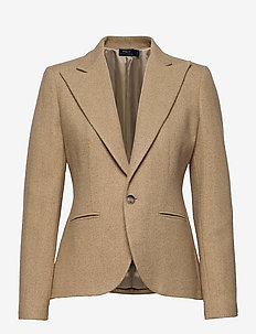 BRUSHED WOOL-BLZ - blazers - tan melenge