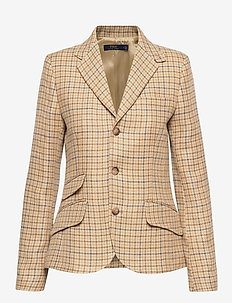 Tweed Blazer - blazere - brown check tweed