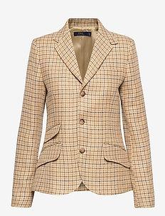 Tweed Blazer - blazers - brown check tweed