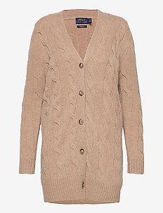 Cable-Knit Cashmere Cardigan - kaschmir - luxury beige heat