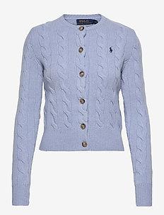 Buttoned Wool-Blend Cardigan - cardigans - light blue heathe