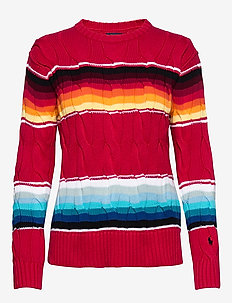 Striped Cable-Knit Sweater - jumpers - serape