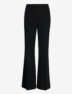 Cotton Flare Pant - wide leg trousers - polo black
