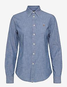 CHAMBRAY-LSL-SHT - overhemden met lange mouwen - bsr indigo