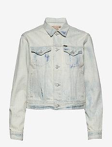 Bleached Denim Trucker Jacket - kurtki dżinsowe - bleached indigo