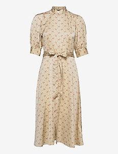 Floral Satin Dress - midi dresses - 793 gentle floral