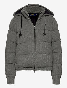 Cable-Knit Down-Filled Jacket - down- & padded jackets - antique heather