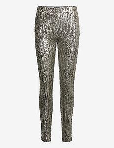 Sequined Skinny Pant - pantalons slim - m-01 silver