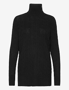 Buttoned-Placket Turtleneck - poolopaidat - polo black