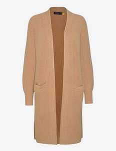 Ribbed Wool-Blend Cardigan - cardigans - collection camel