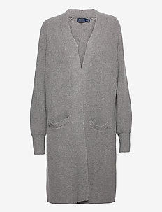 Ribbed Wool-Blend Cardigan - cardigans - fawn grey heather