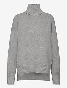 Wool-Blend Turtleneck Sweater - turtlenecks - brume heather