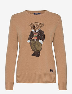 Polo Bear Wool-Blend Sweater - neulepuserot - camel melange mul