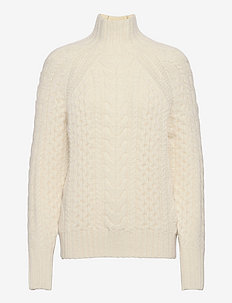 Wool-Blend Turtleneck Sweater - turtlenecks - cream