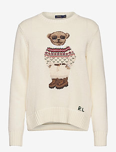 Polo Bear Crewneck Sweater - jumpers - cream multi