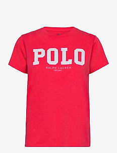 Polo Logo Cotton Jersey Tee - t-shirts - bright hibiscus