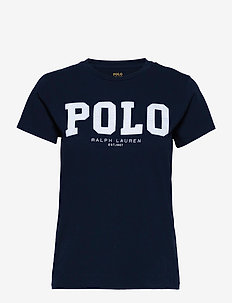 Polo Logo Cotton Jersey Tee - t-shirts - cruise navy