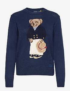 Nautical Polo Bear Sweater - jumpers - navy