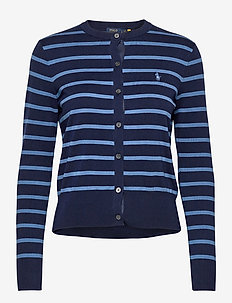 PIMA JSY STRETCH-LSL-SWT - cardigans - blue multi