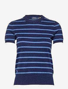 PIMA JSY STRETCH-SSL-SWT - gebreide t-shirts - blue multi