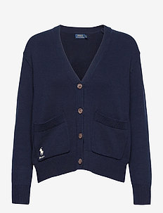 COTTON JERSEY-LSL-SWT - cardigans - hunter navy