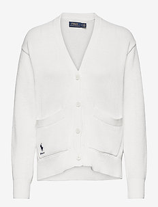 COTTON JERSEY-LSL-SWT - cardigans - white