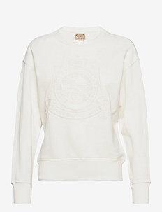 Crest Fleece Sweatshirt - sweatshirts - deckwash white