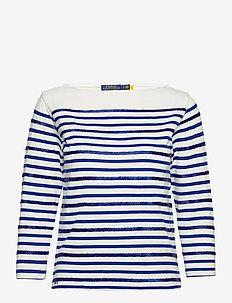 Beaded Boatneck Shirt - tröjor - deckwash white/he