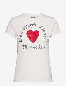 Heart Logo Cotton Jersey Tee - t-shirts - nevis