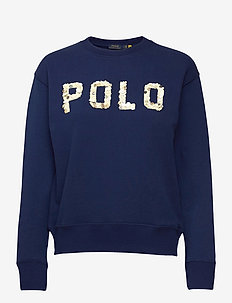 LOOPBACK FLEECE-LSL-KNT - sportiska stila džemperi - holiday navy