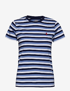 Striped Cotton Tee - t-shirts - blue/navy/white