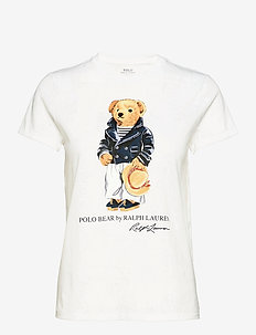 Mariner Polo Bear Cotton Tee - t-shirts - white