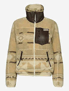 Southwestern Fleece Zip Jacket - mid layer jackets - bcn print